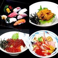 寿司、海鮮丼、定食などお食事にオススメのメニューも!