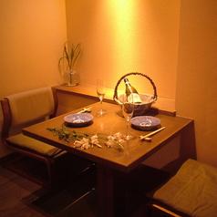 【2階半個室】デートにも最適のお席です。ゆったり掘りごたつでお食事をお愉しみいただけます。(禁煙)