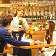 お料理に合わせた世界各地のワイン