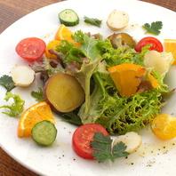 ビタミン&食物繊維が豊富♪彩り野菜のフレッシュサラダ