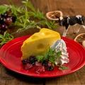 料理メニュー写真チーズ屋さんの穴あきチーズケーキ