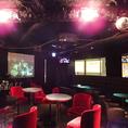 夜の渋谷の景色を楽しめる開放的な空間。遮るものがないので、貸切宴会やパーティーのご利用におすすめです。wiiもございますので巨大スクリーンを使ってゲーム大会も楽しめちゃいます!!