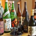 活イカに合うお酒も豊富にご用意!佐賀の地酒もそろえております。