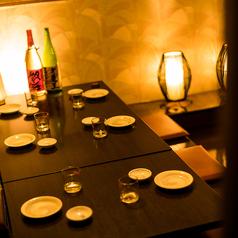 お仕事帰りのご宴会やご友人とのご宴会にピッタリな個室席です。ガッツリとお食事したい方には食べ放題プランもご用意いたしております!