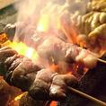 串じまんはすべて備長炭で串を焼きます!串焼き好きにはたまらない一品♪