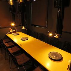 個室テーブル席。最大10名様でもOK★