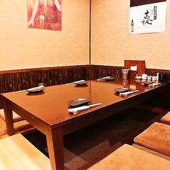 2~8名様は落ち着いた座敷はお店の人気席。周りを気にせずお楽しみください。