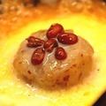料理メニュー写真イモ咲き鍋焼きプリンここで焼く