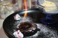 料理メニュー写真炎のフォンダンショコラ