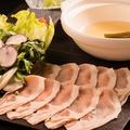 料理メニュー写真土鍋の甘豚ロースしゃぶしゃぶ