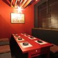 完全個室もご用意しております。接待・会食などのおもてなしのお席にもぜひ。