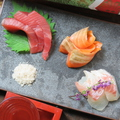 料理メニュー写真朝〆お刺身3種盛り