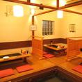 【各種宴会にお勧め】ゆったり寛げる大小様々な個室をご用意しております。