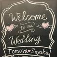 ≪結婚式二次会≫ウェルカムボードでお出迎え♪
