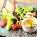 料理メニュー写真契約農家の新鮮野菜バーニャカウダ