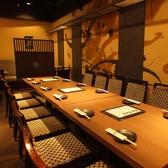 7~8名様のご宴会に最適なテーブル席。