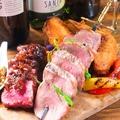 料理メニュー写真欲張りお肉のブロシェット【牛&豚&鶏】