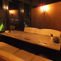 夜景の見えるソファー個室!