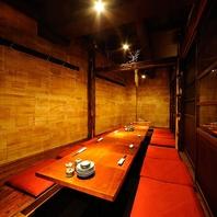 立川で3名~18名様までご利用頂ける個室を完備の店。