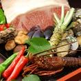 地産地消にこだわり、厳選食材を使用した料理の数々…