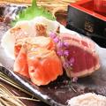 料理メニュー写真鮮魚の藁炙り焼きタタキ3種盛り