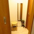 ゲスト様用・控室をご用意☆なんと!トイレも他のお客様と別のトイレをご用意☆ゲスト様とお客様が一緒に並んだりということがないので安心♪