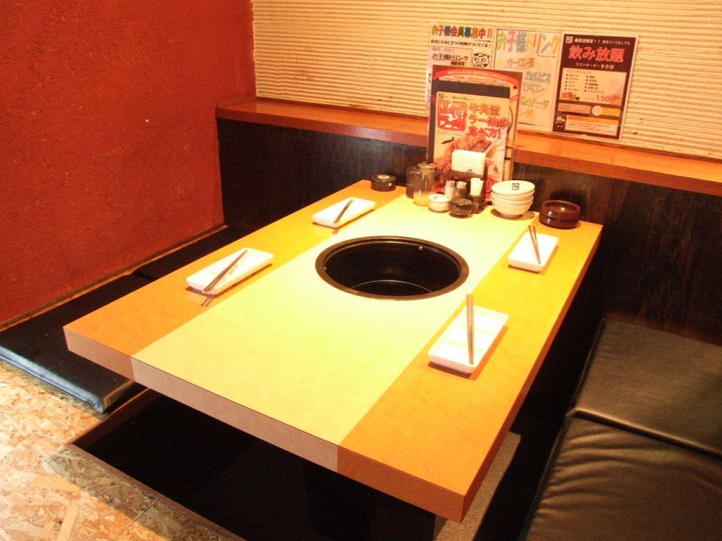 お子様連れでも安心してご利用頂けるよう、それに合うお席やキッズメニューをご用意しております。