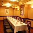 10名様~16名様までご利用頂ける個室です。気の知れるお仲間内・ご家族などのご会食にぜひご利用下さい。