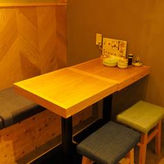 4名様用テーブル席!テーブルをつなげられますので4名様以上でもご利用いただけます♪