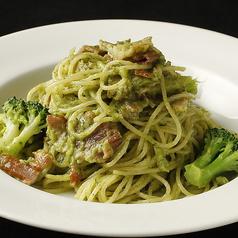 ブロッコリーとパンチェッタのアーリオオーリオスパゲティー