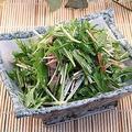 料理メニュー写真チャーシューと水菜の中華和え