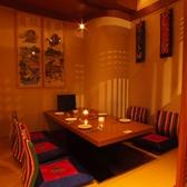 カラフルな座布団が可愛い掘りごたつ個室。女子会に☆3F