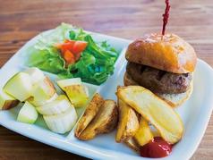 料理メニュー写真キッズハンバーガープレート