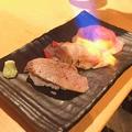 料理メニュー写真炙り寿司3種盛合せ