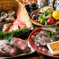 明石昼網や淡路直送の天然鮮魚、神戸牛をご用意
