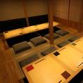 【完全個室】 8名様~最大20名様のお席をご用意しております。堀ごたつのお席、ふすまの仕切りがありますので、会社の宴会や女子会など各種ご宴会も安心してゆっくりとご利用頂けます。自慢の和食料理と日本酒と共に、優雅なお時間をお過ごしください。※個室のご利用はチャージ10%を頂いております。
