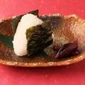 料理メニュー写真ほっこりの塩結びセット(漬物・しじみ赤だし)
