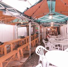 【屋外テラス席】テラス席には補助椅子もあり!臨機応変にご対応いたします☆夏は扇風機、冬はストーブで季節に合わせて快適にお過ごしいただけます♪