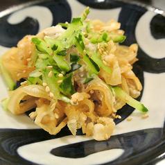 料理メニュー写真県産豚のミミガー