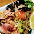 料理メニュー写真媛っこ地鶏 炭焼きタタキ【もも肉orむね肉】