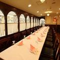 テラスルーム個室は20名様~26名様からご利用頂けます。歓送迎会や会社のご宴会、お集りだけでなく、接待や商談などのフォーマルなお席にも最適です!