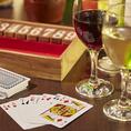 カードゲームやボードゲームなど飲み会を盛り上げるグッズを常時約15種類ほど取り揃え