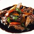 料理メニュー写真牛肉とピ-マンの醤油炒め