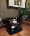 昔ながらの黒電話を使用しております。時々鳴り響く懐かしい黒電話の着信音もお楽しみください。