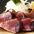 料理メニュー写真カツオの藁焼き