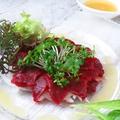 料理メニュー写真馬刺しのカルパッチョ
