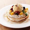 料理メニュー写真フルーツパンケーキ
