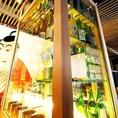 豊富な銘酒を取り揃えた日本酒セラー。中には岡山の地酒50種類以上がスタンバイ!あなたのお気に入りのお酒と出会えるはずです。