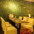 少人数~貸切まで対応できるテーブル席をご用意!最大100名様まで収容可能な広いテーブル席!