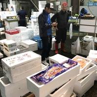 お店の食材は、市場直送品